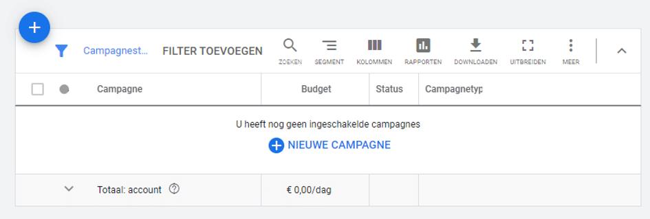 Een Google Ads campagne opzetten