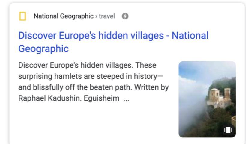 google web story voorbeeld