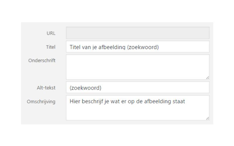 Alt-tag is ook een factor voor zoekmachineoptimalisatie
